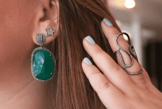 adornia jewels green earrings bling beauty hair missyonmadison nyc blog blogger fashion style