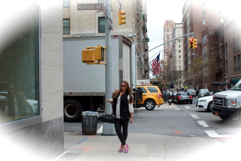 madisonave nyc newyork city blog blogger missyonmadison pinkpumps shoes michaelkors fauxfur