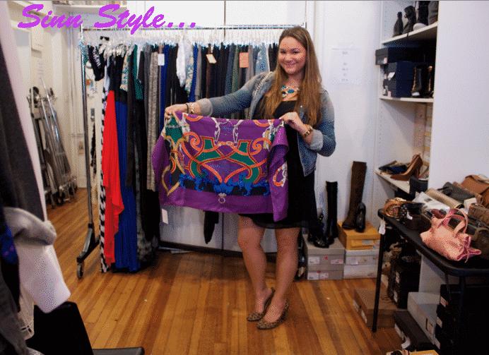 sellitnowny sinnstyle missyonmadison nyc samplesale hermes hermesscarf fashion blog blogger fashionblog showroom