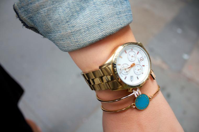 timex timexwatches watch goldwatch fashion blog blogger fashionblog style styleblog missyonmadison bangles jewels gold jewelry
