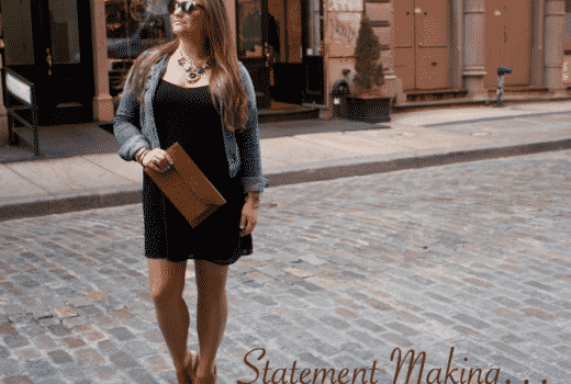 susu bag clutch missyonmadison blog blogger soho nyc cognac stevemadden forever21 denimjacket nordstrom lbd black dress statementnecklace fashion style fashionblog