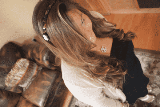 hairstyle hair longhairdontcare missyonmadison lerickson cameoheadband ponytail franceluxe shop style blog blogger beauty curls curlingiron brunette highlights