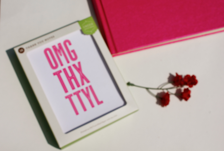 target omg thx ttyl missyonmadison blog blogger stationary thankyou thankyoucards cards notecards pink style fashion
