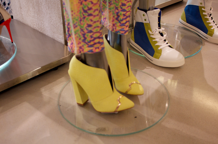 justcavalli colorful colors fashion fashionblog style styleblog missyonmadison yellowshoes yellowbooties stylish soho