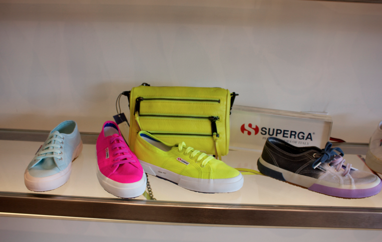 superga rebeccaminkoff shoes jildor sneakers neon neonsupergas missyonmadison style blog blogger fashion