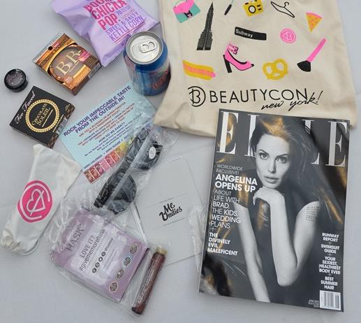 beauty beautyconnyc beautycon elle magazine ellemagazine angelinajolie blog blogger nyc missyonmadison swag beautyswag swagbag