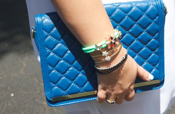 cobaltbag cobaltblue jewels jewelry style blign bracelets missyonmadison blog blogger cobaltclutch fashion style stylblog blogger fashionblogger tiffany goldbangles nordstrom armparty