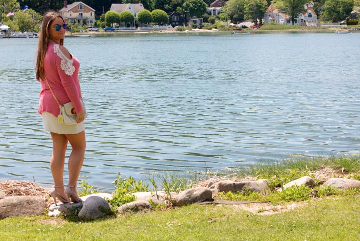 style blog blogger fashion fashionblog missyonmadison funkyflairboutique pink shop lake centerport longisland whiteskirt