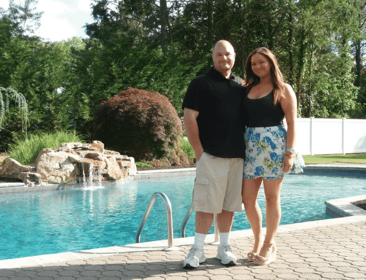 dad daddysgirl summer li longisland waterfall pool famiyl love