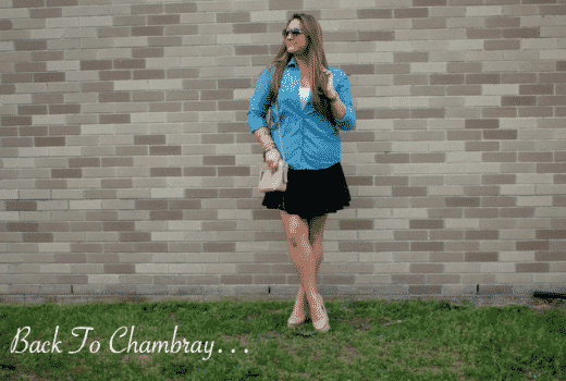 chambray dropwaistskirt missyonmadison blog blogger fashion style styleblog shop shopping coach crossbodybag summer