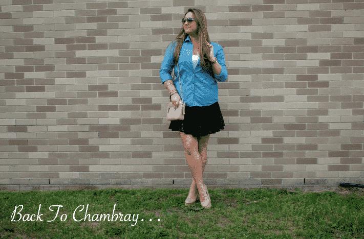 chambray dropwaistskirt missyonmadison blog blogger fashion style styleblog shop shopping coach crossbodybag summer