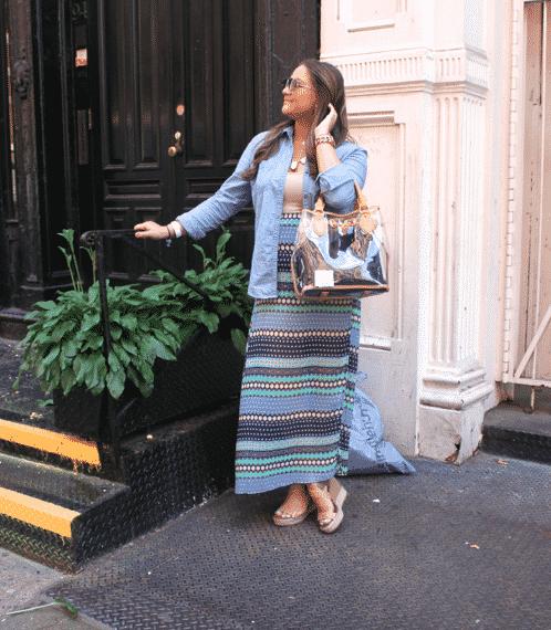 maxiskirt chambray target nordstromrack style missyonmadison blog blogger ootd fashionblog fashionblogger styleblog styleblogger soho