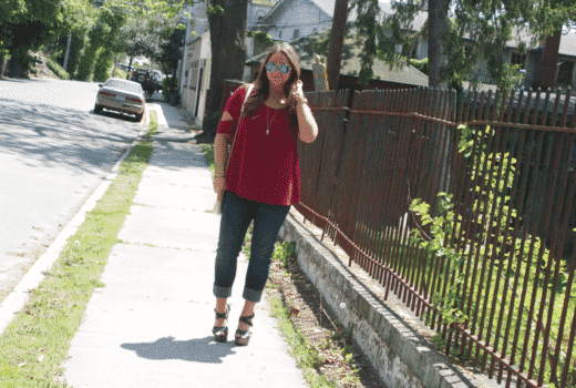 missmejeans missyonmadison style blog blogger fashionblog fashionblogger jeans redtop longhair mirrored aviators styleblog styleblogger