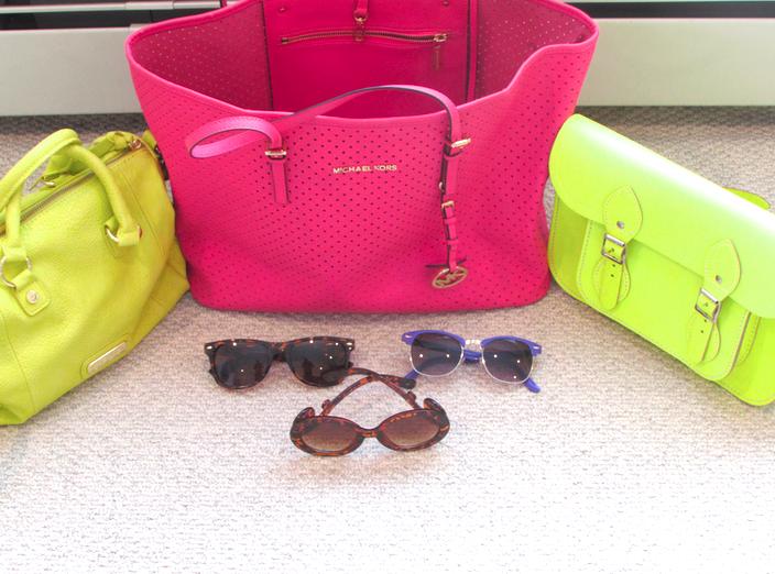 sunglasses neon combridge satchl michaelkors steve madden tjmaxx maxxinista neonhandbags shop style missyonmadison