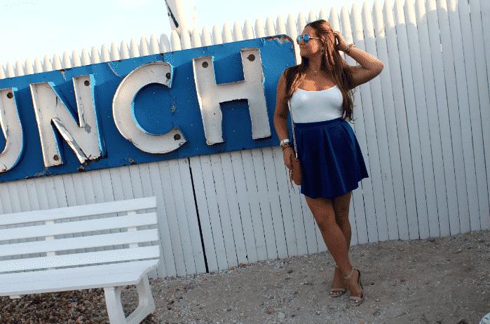 redwhiteandblue hamptons lobster montaukhighway fashionblog cobaltskirt redrebeccaminkoff minimacbag missyonmadison july4th 4thofjuly fourthofjuly summer style payless shoes