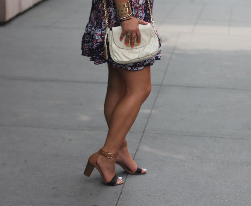 oldnavy oldnavyblocksandals missyonmadison blog blogger fashionblog paintsplatterdress charlotterusse charlotterussedress whitecrossbodybag badgleymischka nyc soho