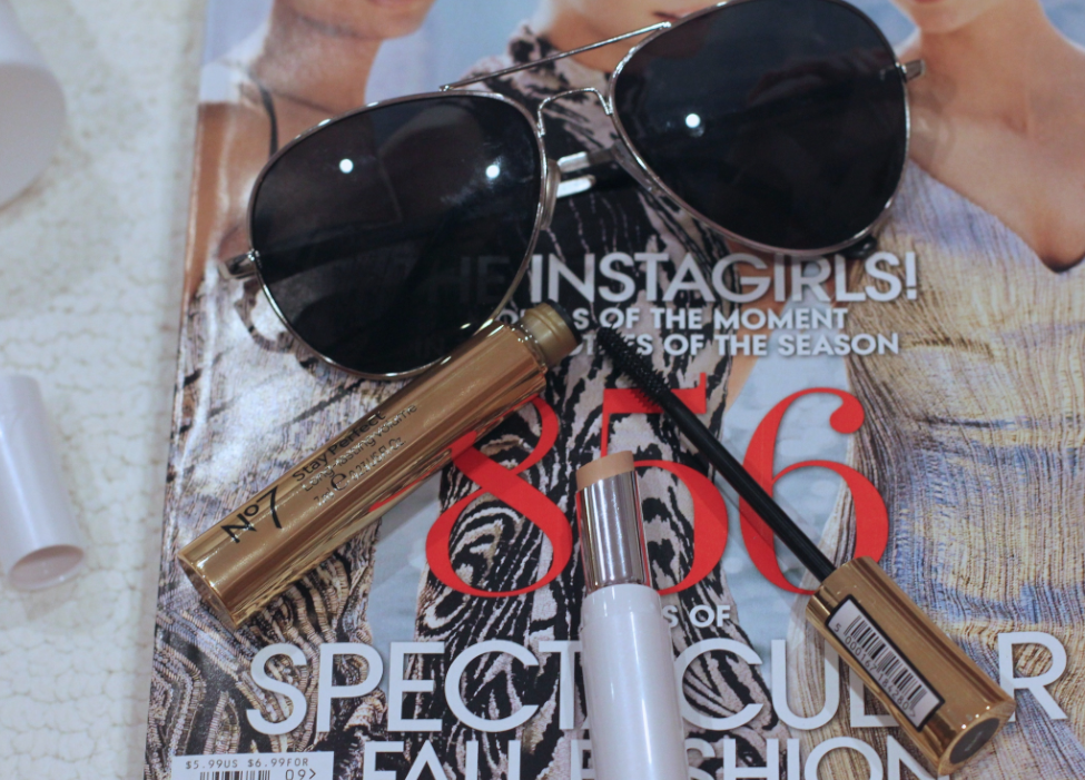 aviators missyonmadison beauty beautyfinds kyprisbeauty  bootsno7 target targetbeauty mascara concealer beautyproducts juicycouture juicygold goldcuoture vogue septemberissue
