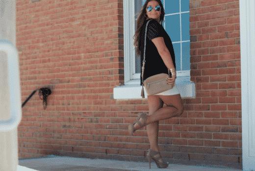 missyonmadison blog blogger fashionblog fashionblogger lordandtaylor whitequiltedskirt kendrascott blackfauxleathertop simplyverawangshoes nudeopentoebooties coach nudechaincrossbodybag mirroredaviators