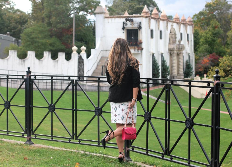 missyonmadison vanderbiltmuseumli longislandscenery photography fashionblogger elleforkohls blackrockstudpumps jadoresweater rebeccaminkoffminiaffairbag miniaffairbag myrm blackblazer lcbylaurenconradblazer