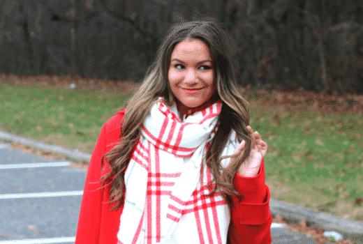 oldnavy missyonmadison plaidscarf scarf howtotieascarf nyc blogger winterstyle
