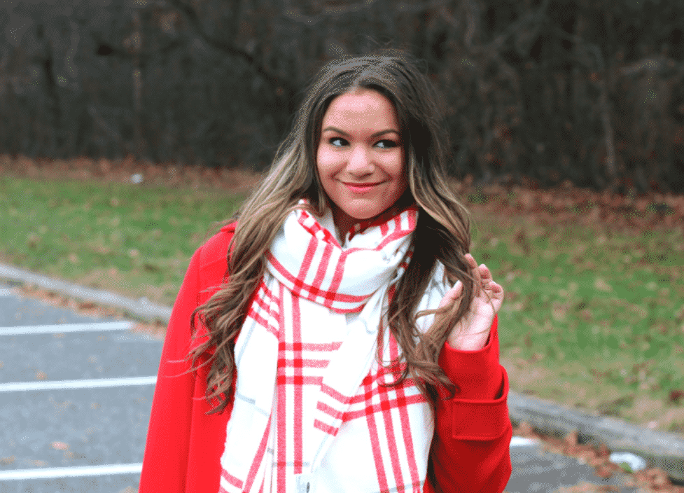 oldnavy missyonmadison plaidscarf scarf howtotieascarf nyc blogger winterstyle