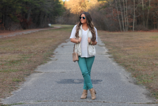missyonmadison melissatierney fashionblog fashionblogger ootd wiw whatiwore blogged coach coachcrossbodybag beigecrossbodybag greenjeans mintgreen stpatricksday whitequiltedvest quiltedpuffervest blueaviators mirroredaviators sunglasses raybans reportshoes reportcullenbooties whitevnecktee brunettehair longislandblogger photography longislandphotography beiegebooties tanleatherbooties springstyle springtrends