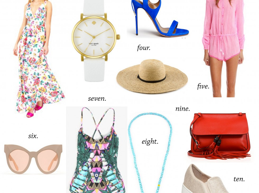 missyonmadison, lyst, lyst.com, summer shopping, summerstyle, summer picks, what to wear this summer, swimwear, swimsuit, beach hat, beach hats, gucci, gucci bag, red gucci bag, slip on sneakers, pink romper, bl