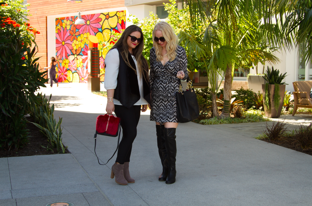 missyonmadison, fashion blog, fashion blogger, friendship, shoedazzle, shoedazzle blog, national womens friendship day, friends, la bloggers, la blogger, suede booties, taupe suede booties, black jeggings, black skinny jeans, white blouse, sherpa vest, black sherpa vest, fall style, fall vest, black sunnies, black sunglasses, faux fur handbag, fuzzy handbag, fall favorites, melissa tierney
