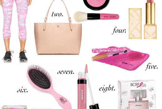 missyonmadison, melissa tierney, think pink, breast cancer awareness, tory burch, pink products, think pink products, tory burch lipstick, tory burch tote, ulta beauty, ulta, wet brush, breast cancer products, october,