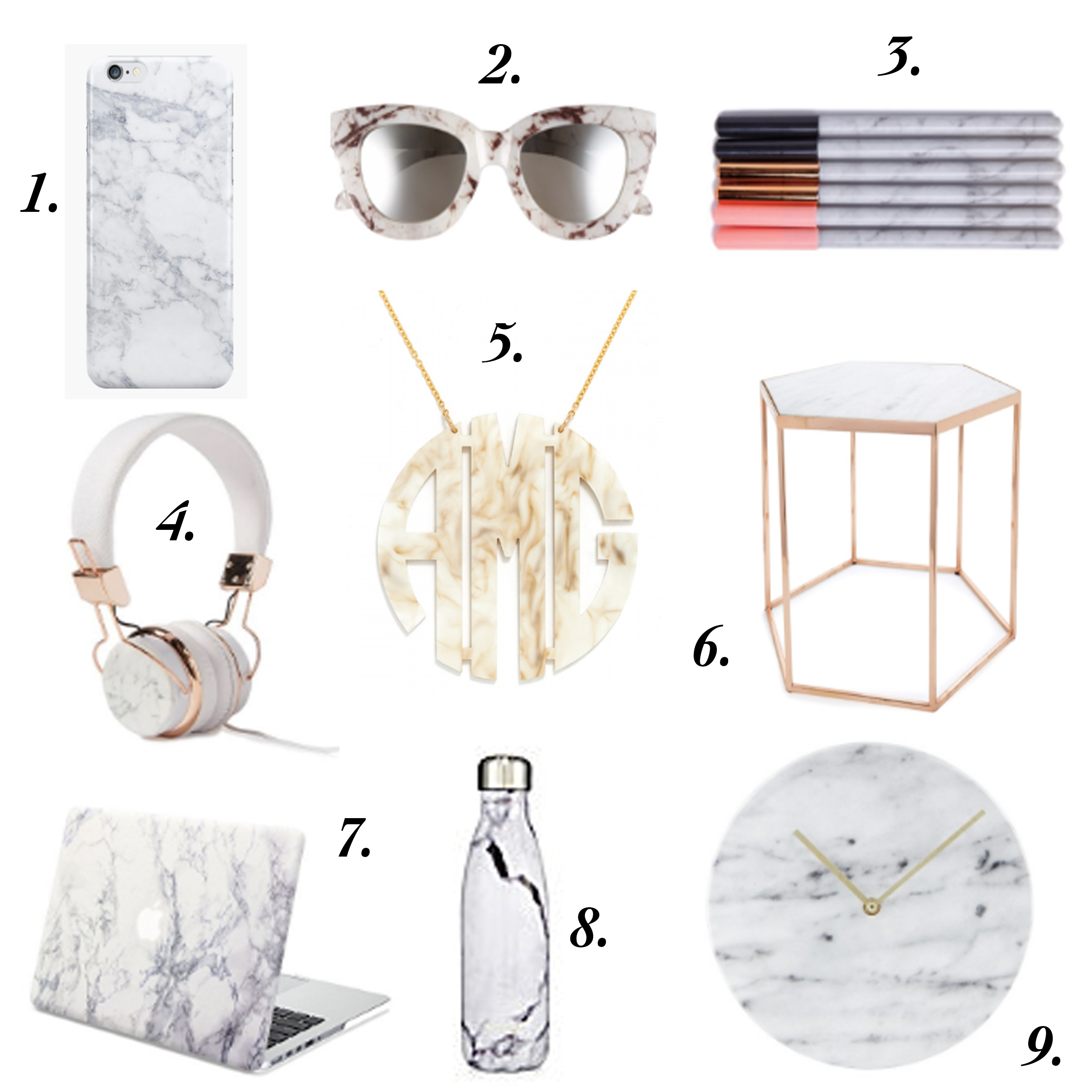 missyonmadison, marble, marblie iphone case, marble laptop case, marble macbook case, marble home decor, marble decor, marble accessories, marble blanket, marble pillow, marble sunglasses, le specs, marble le specs sunglasses, baublebar, acrylic monogram necklace, marble monogram necklace, marble water bottle, marble pens, marble notebook, marble clock, target, target home, marble headphones, la blogger, interior inspo, home decor,