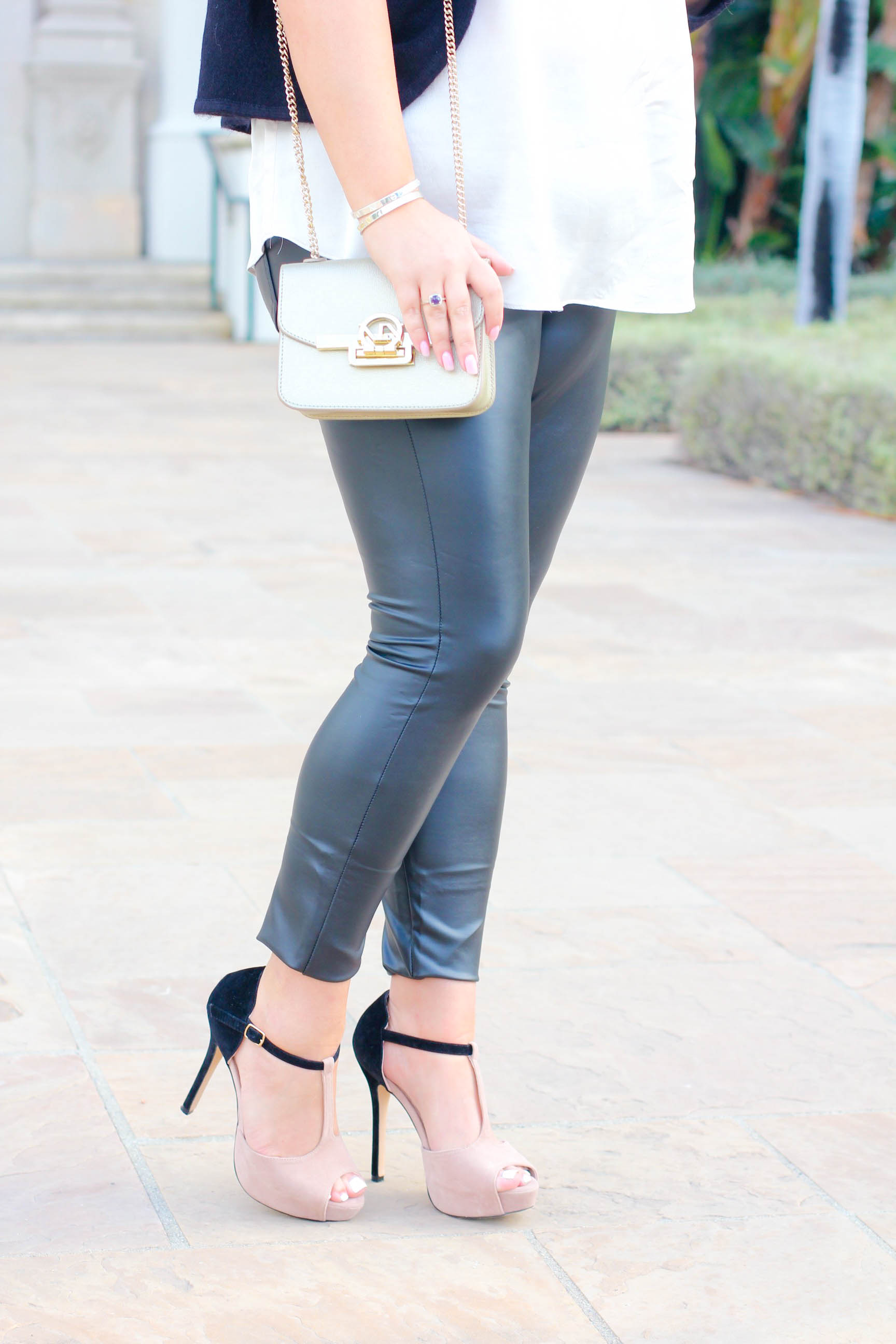 Holiday Style With Hue Leather Leggings Missy On Madison
