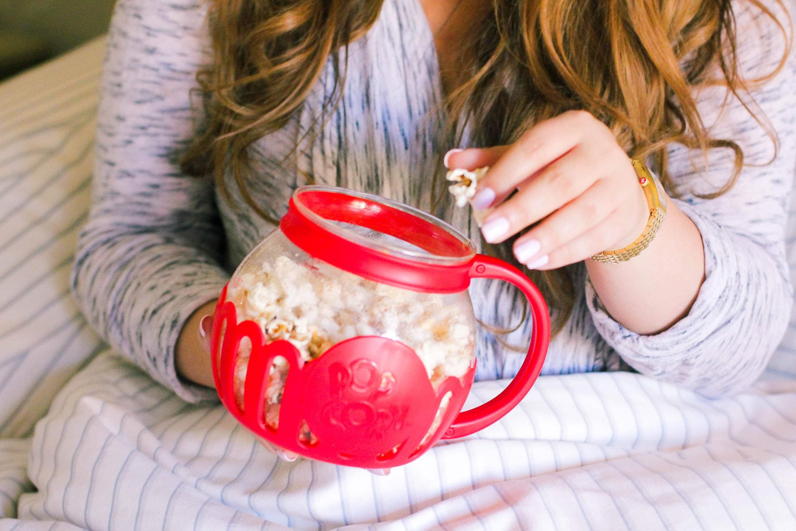 missyonmadison, missyonmadison instagram, melissa tierney, popcorn, uncommon goods, movie night, netflix night, popcorn maker, la blogger,