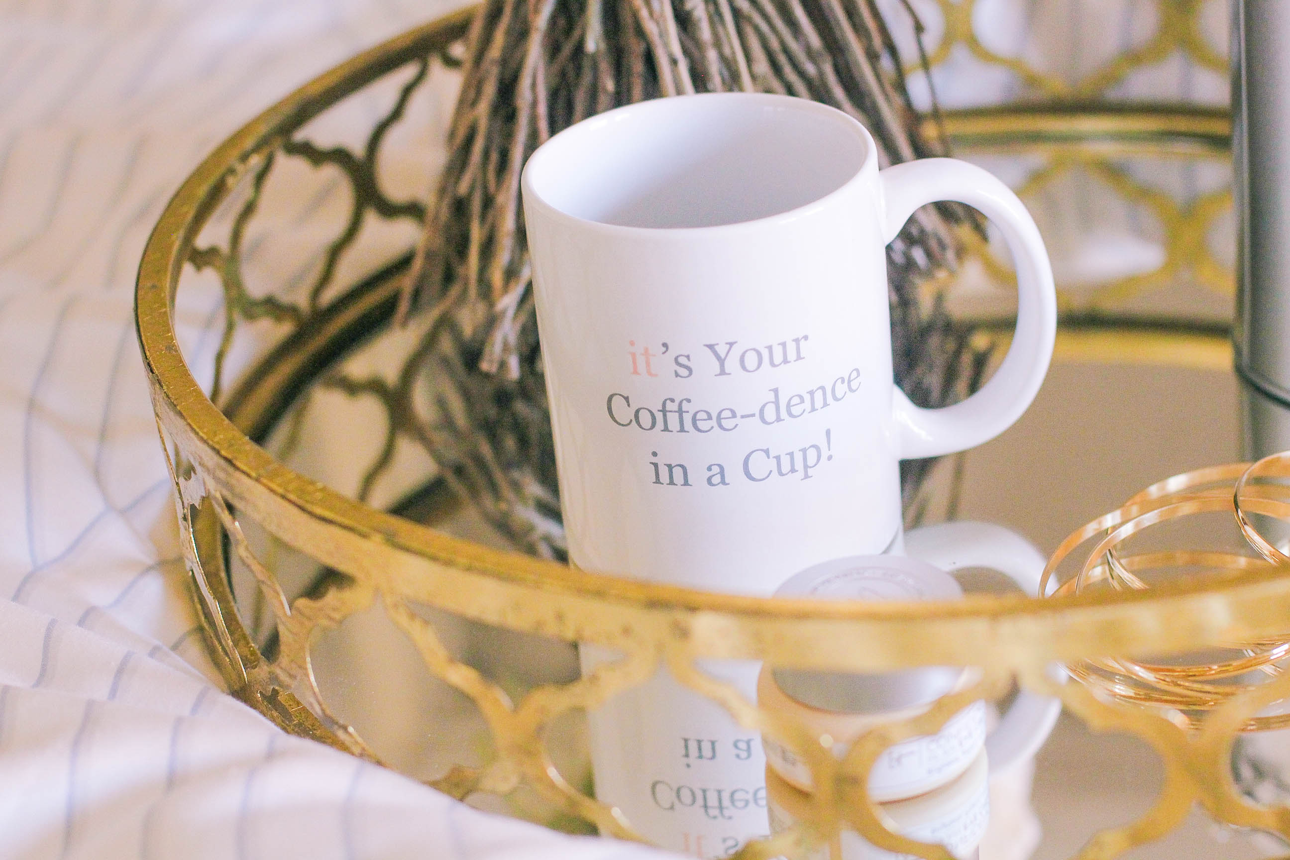 missyonmadison, it cosmetics, coffee, morning coffee, rainy day in, breakfast in bed, rainy day in bed, coffee mug, gold butler tray, melissa tierney, missyonmadison instagram, la blogger, bloglovin,