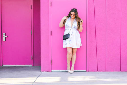 missyonmadison, missy on madison instagram, melissa tierney, halter dress, floral halter dress, easter style, easter dresses, betsey johnson, betsey johnson shoes, gucci bag, gucci crossbody bag, saguaro palm springs, colorful walls, fashion blogger, style blogger, la blogger, spring trends, spring style, lavendar halter dress, floral halter dress, bloglovin, ankle strap heels, platform sandals, ootd, shop the mint, shop the mint dress, easter 2017,