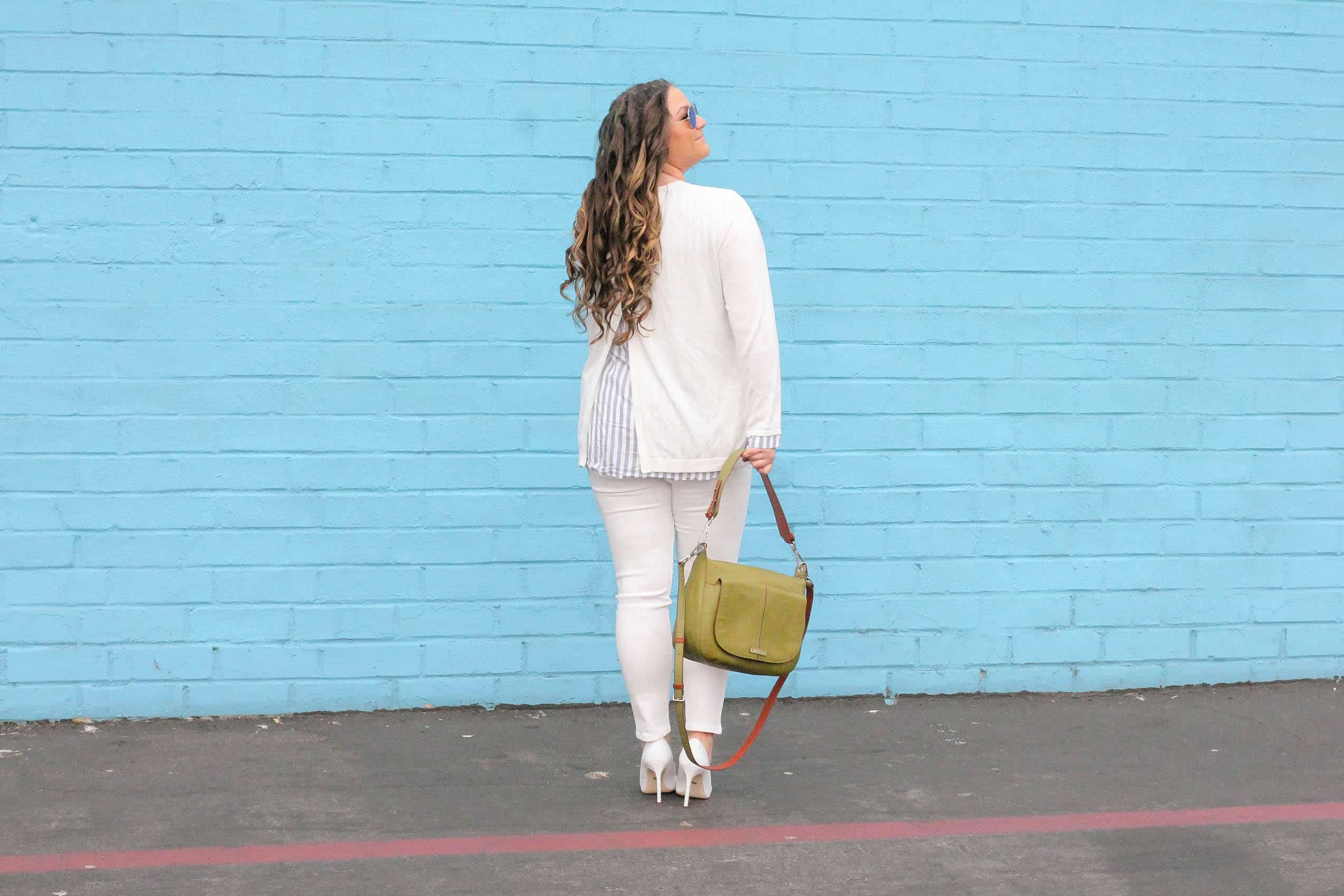 missyonmadison, missyonmadison instagram, melissa tierney, coco cooper denim, white skinny jeans, vera bradley, vera bradley carson shoulder bag, la style, white pumps, white heels, white pointed toe pumps, white after labor day, how to wear white after labor day, fall style, white sweater, skies are blue sweater, bloglovin, fashion blogger, style blogger, style inspo, fall fashion,