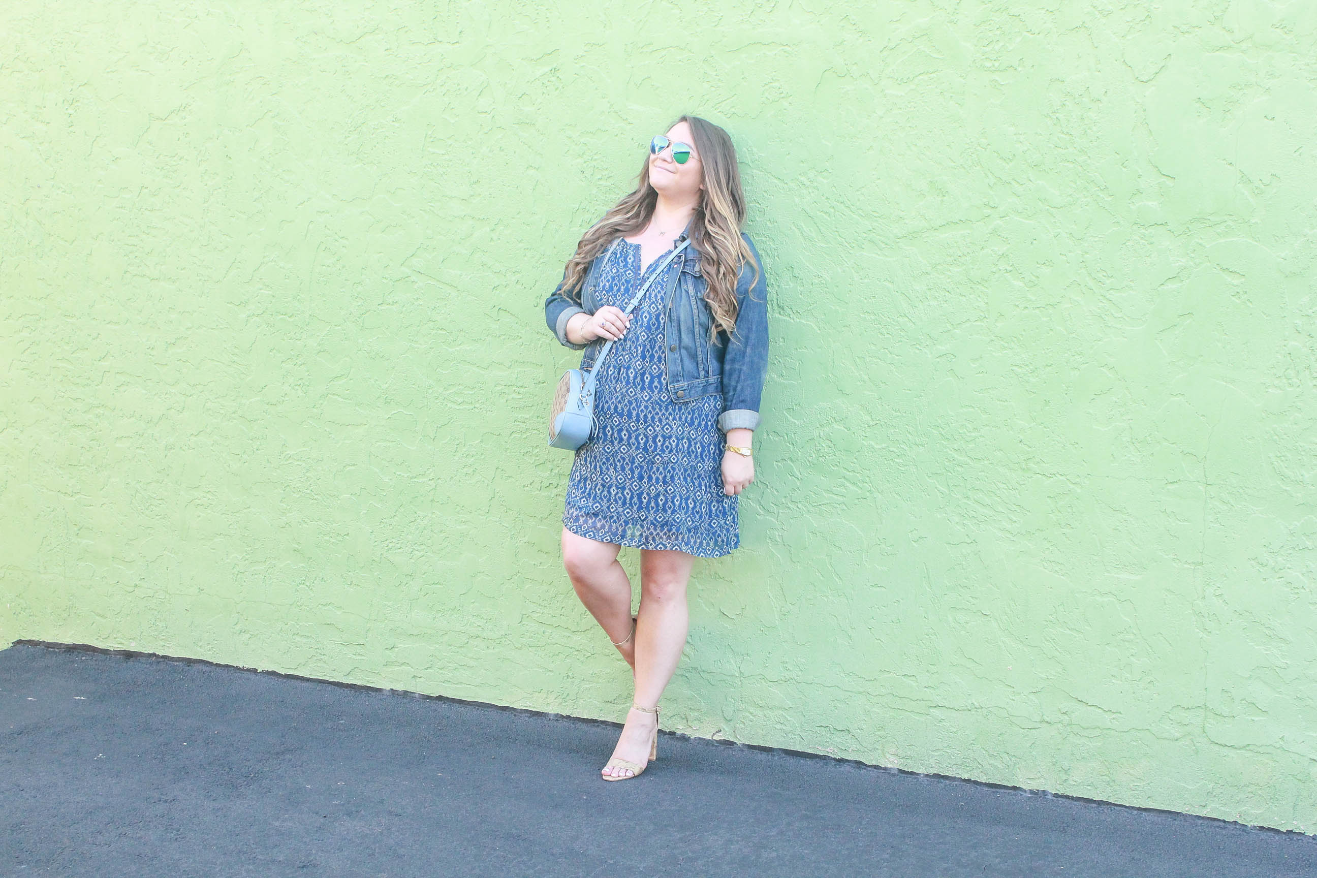 missyonmadison, missyonmadison blog, missyonmadison instagram, bloglovin, outfit inspo, first day of spring, spring style, spring style 2018, spring 2018 outfit inspo,fashion blog, fashion blogger, ootd, fashion blogger los angeles, la, la blogger, melissa tierney, tart collections, tart collections dress, old navy denim jacket, womens denim jacket, cork ankle strap heels, cork sandals, spring shoes, spring sandals, gucci camera bag, le specs sunglasses, wall crawl, style blogger, gucci crossbody bag,