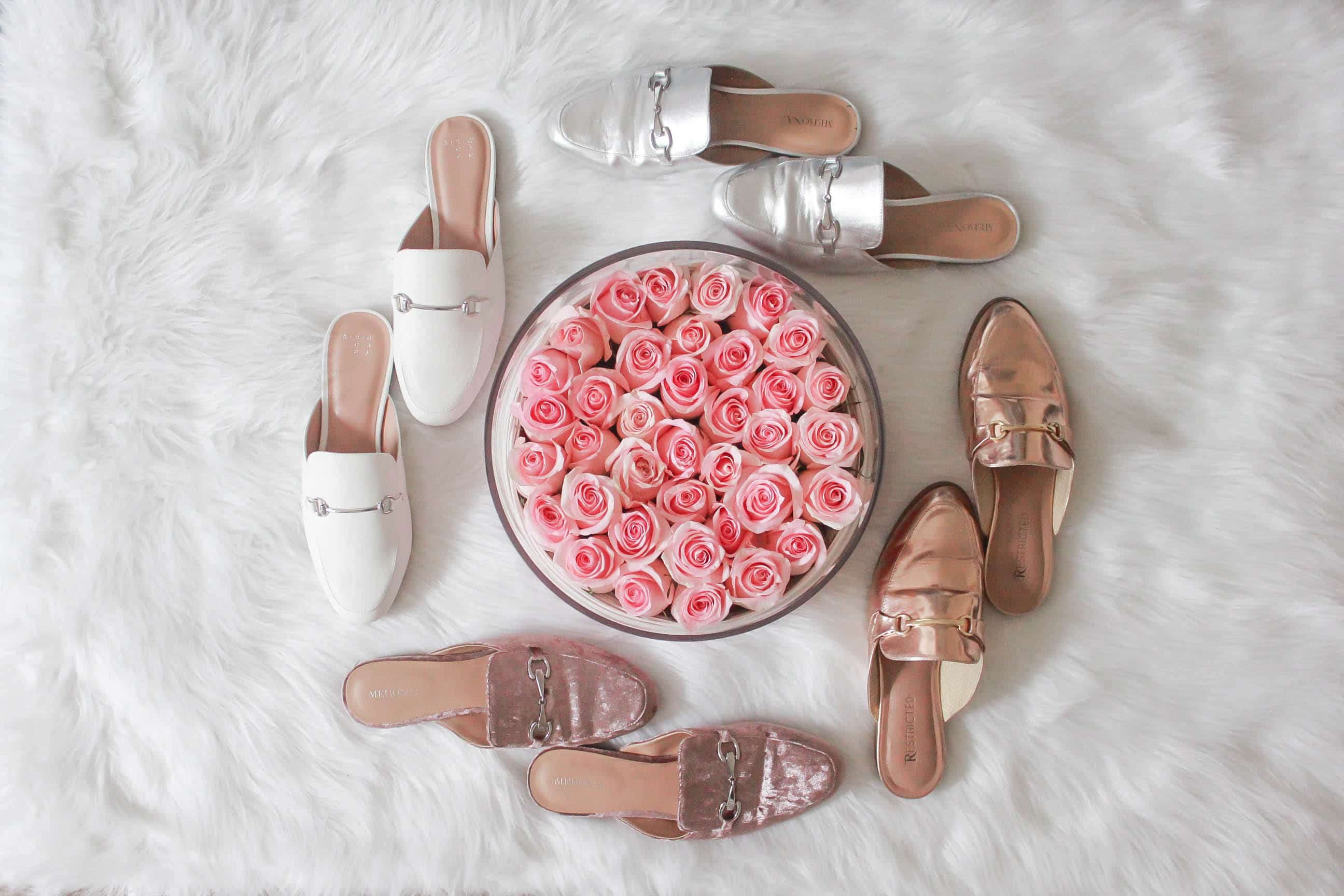 missyonmadison, missyonmadison instagram, melissa tierney, mules, spring mules, mules slides, target, target style, target mules, dsw mules, nordstrom mules, gucci mules, mules with fur, mules for spring, how to style mules, how to wear mules, spring fashion, spring style guide, spring style 2018, spring fashion 2018, fashion blogger, style blogger, shopping guide, roses that last a year, roses in a box, bloglovin, la blogger, fashion blogger, style inspo,
