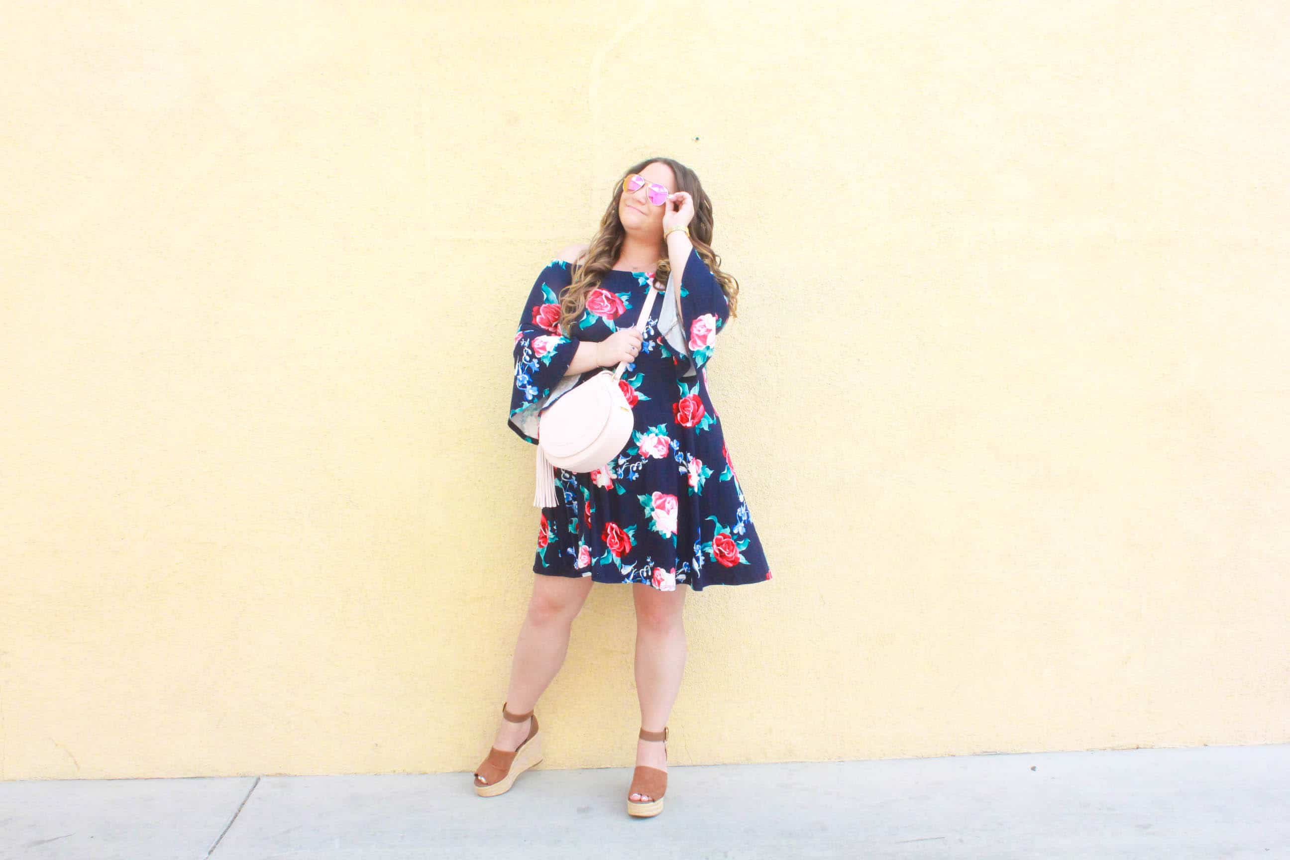 missyonmadison, missyonmadison blog, missyonmadison instagram, melissa tierney, fashion blog, fashion blogger, style blog, style blogger, street style, spring style, spring style inspo, stay warm in style, stay warm in style dress, tan platform espadrille wedges, tan espadrille wedges, gigi new york, gigi ny, gigi new york crossbody bag, gigi new york pink crossbody bag, bloglovin, floral off the shoulder dress, outfit inspo, fashion outfit inspo,