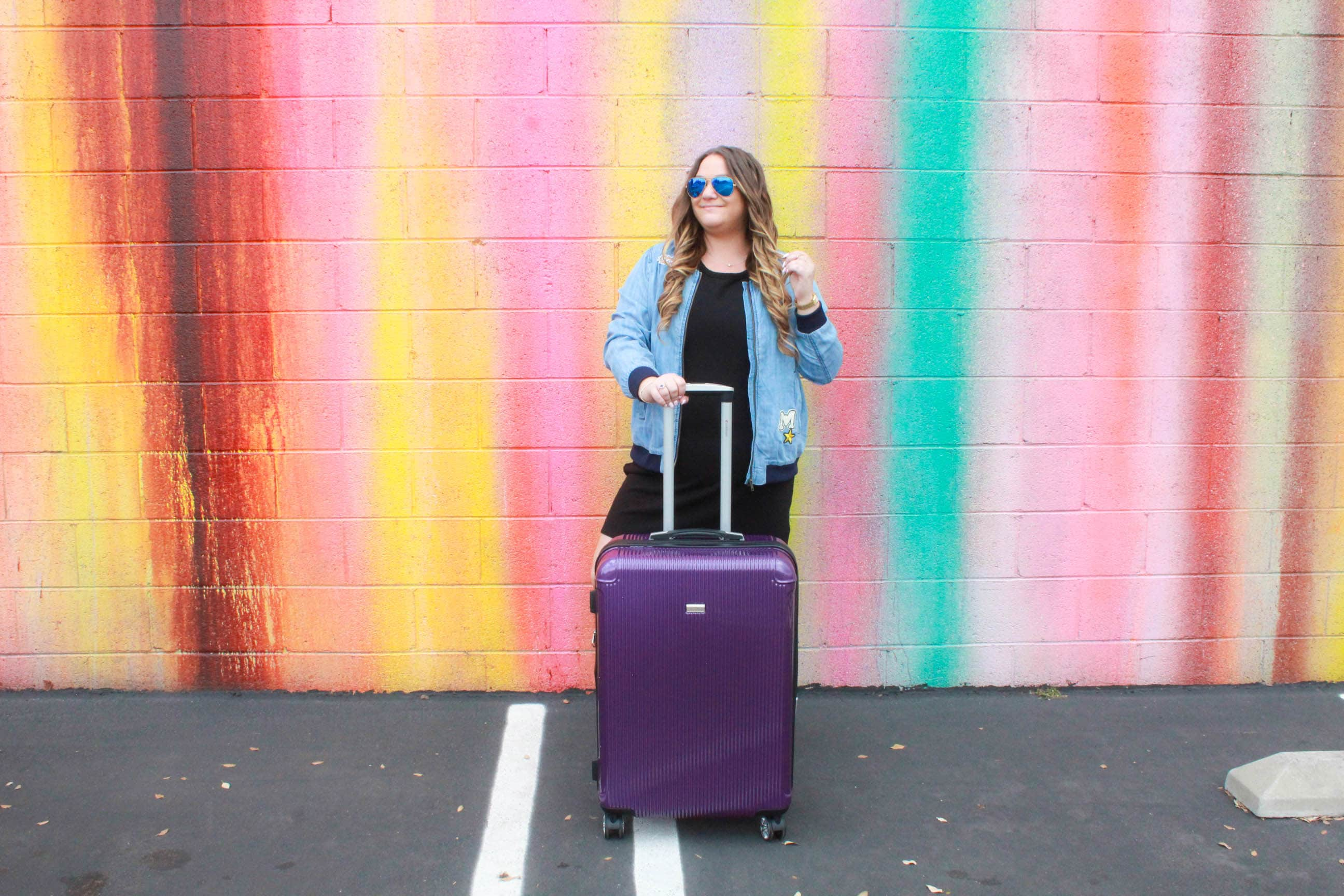 missyonmadison, missyonmadison instagram, fashion blog, fashion blogger, style blog, style blogger, melissa tierney, missyonmadiosn instagram, missyonmadison blog, travel blog, travel blogger, luggage reviews, gabbiano luggae, gabbiano luggage review, pasadena colored wall, la wall crawl, la colorful walls, colorful walls in la, blogger, la blogger, travel goals, packing tips, travel style, what to wear when traveling, purple luggage, gabbiano luggage, bloglovin, travel guide, travel buys,