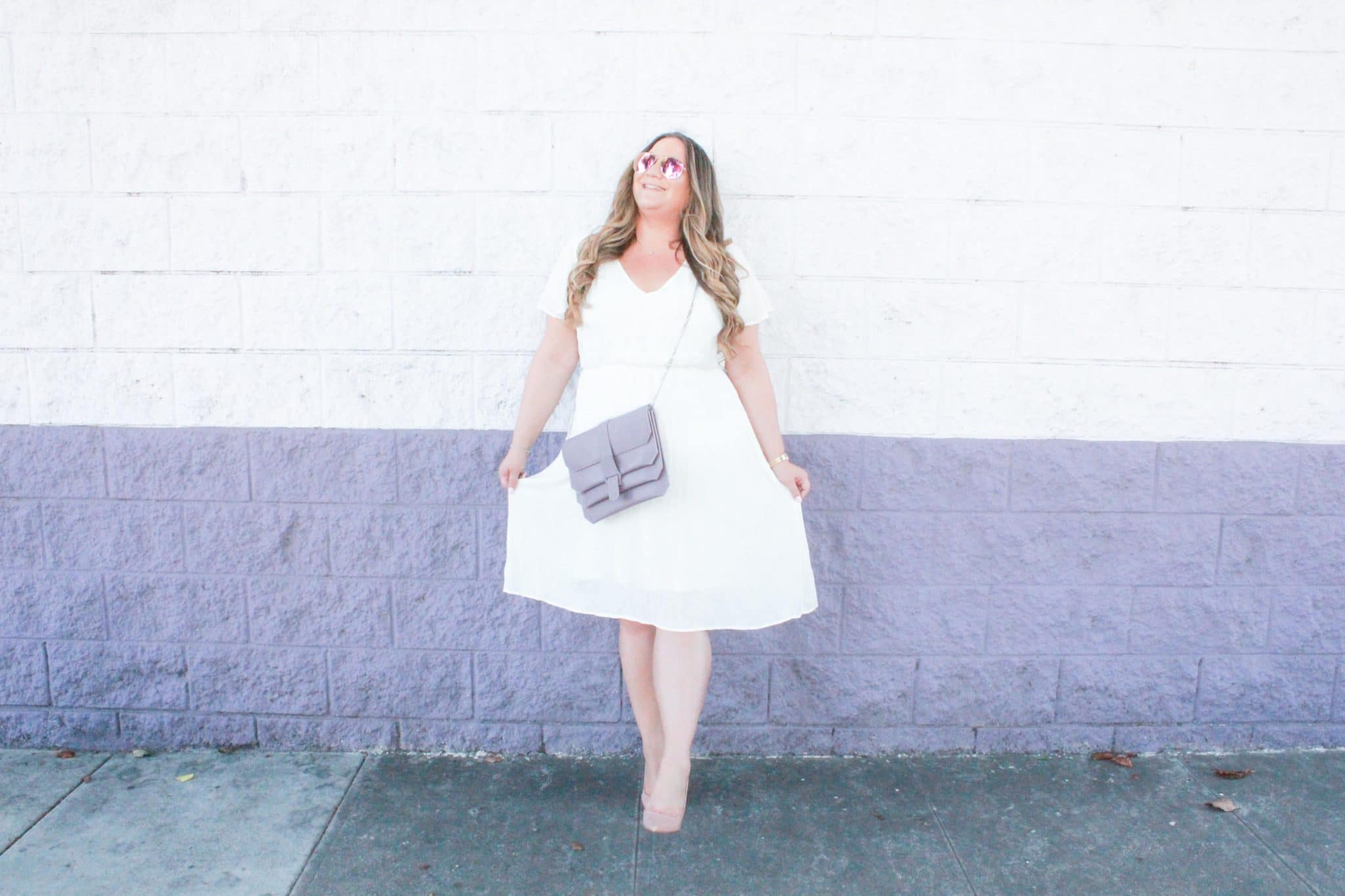 missyonmadison, missyonmadison instagram, missyonmadison blog, missyonmadison blogger, la blogger, style diaries, currently wearing, pink desert, white midi dress, pink desert dress, style goals, bloglovin, nude pumps, nude pointed toe pumps, senreve handbags, lavender handbag, crossbody bag, fall fashion, fashion blog, fashion blogger, ootd, outfit inspo,