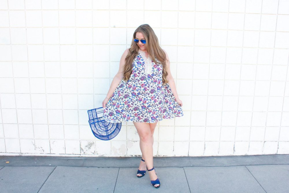 missyonmadison, missyonmadison blog, missyonmadison instagram, la blogger, style blog, style blogger, fashion blog, fashion blogger, fall style, fall trends, tina marie shoes, anvy platform heels, navy straw bag, luxchilas straw bag, luxchilas bag, fashion trends, poppy and sky dress, poppy and sky blue floral dress, floral swing dress, printed floral swing dress, raybans, navy purse, navy bag, straw handbag, blue ark bag, cult gaia, balayage hair, hairdreams, hairdreams hair extensions, fall trends,