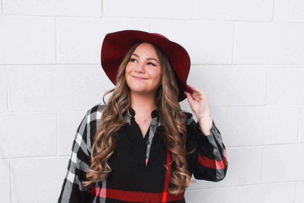 missyonmadison, missyonmadison instagram, missyonmadison blog, melissa tierney, melissa tierney blog, melissa tierney instagram, la blogger, amaryllis, amaryllis dress, black plaid dress, plaid fall dress, fall style, 2018 fall style, plaid dress, fall dress, 2018 fall style, 2018 fall trends, white ankle boots, white ankle booties, charlotte russe, charlotte russe booties, charlotte russe white booties, chanel bag, chanel flapbag, starbucks, black chanel flapbag, ootd, outfit inspo, fall outfit inspo, 2018 fall outfit, white pointed boots, white pointed toe ankle booties, hairdreams, hair goals, maroon floppy hat, fall floppy hat, floppy hat,