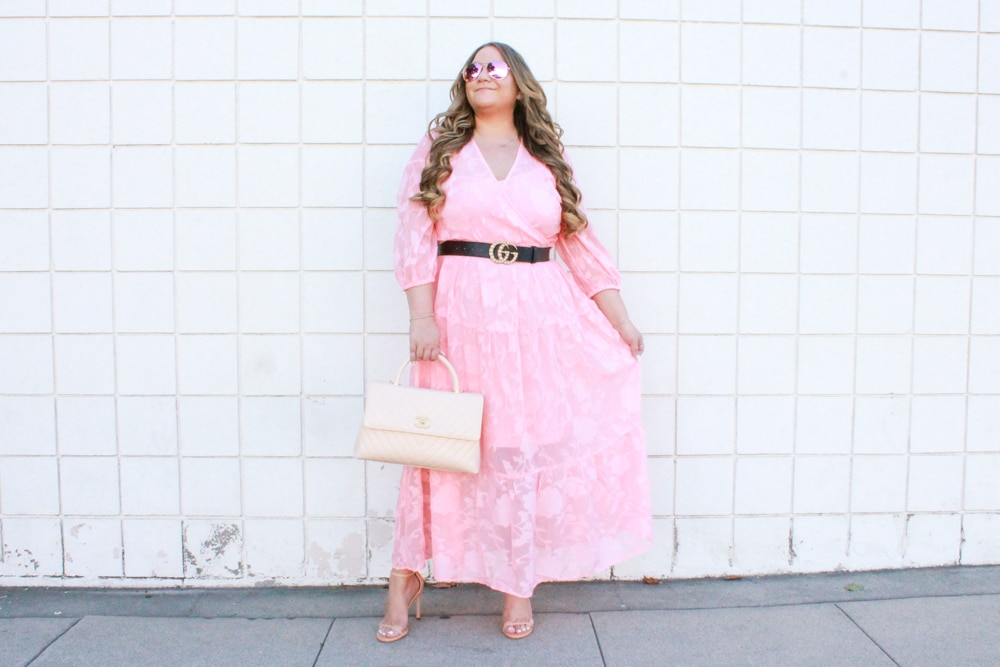 missyonmadison, missyonmadison instagram, missyonmadison blog, missyonmadison blogger, melissa tierney, melissa tierney blog, melissa tierney instagram, melissa tierney blog, la blogger, style blog, style blogger, eloquii, eloquii dress, eloquii maxi dress, pink maxi dress, gucci pearl belt, gucci belt, chanel top handle bag, chanel top handle flap bag, stuart weitzman, stuart weitzman nudistong, stuart weitzman nudist heels, stuart weitzman heels, hairdreams, hair extensions, hair goals, benefits of hair extensions, fall style, mean girls, wednesdays we wear pink,