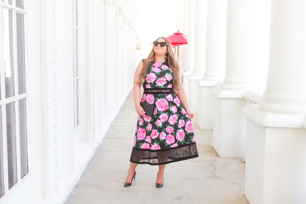 missyonmadison, missyonmadison blog, missyonmadison blogger, la blogger, style blog, style blogger, fashion blog, fashion blogger, ootd, outfit inspo, vday outfit inspo, vday date night look, vday outfit, vday 2019 outfit, valentines day 2019 look, valentines day date night outfit, rose print dress, rose dress, black patent leather pumps, black pumps, gucci mini bag, gucci crossboday bag, gucci chain on wallet, le specs sunglasses, le specs airheart sunglasses,