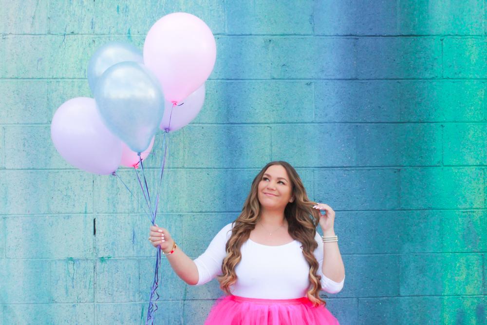 missyonmadison, missyonmadison blog, missyonmadison blogger, la blogger, fashion blogger, style blogger, style inspo, pink tutu womens, womens tutu skirt, pink tulle skirt, white bodysuit, pink manolo blahniks, pink heels, pink manolos, birthday lessons, pasadena rainbow wall, pasadena street wall,