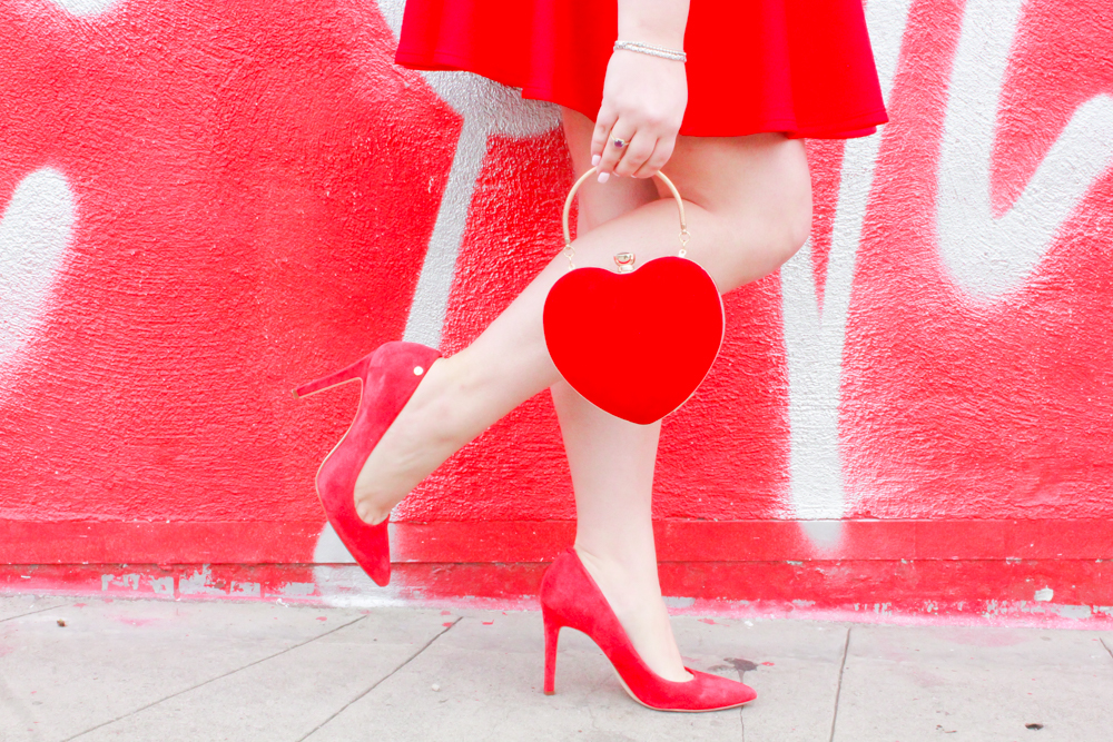 missyonmadison, missyonmadison instagram, missyonmadison blog, la blogger, culver city love wall, la love wall, love wall, heart shaped purse, heart purse, heart bag, red skater skirt, red skirt, heart print top, heart print blouse, red pumps, red heels, fashion blogger, style blogger, style blog, fashion blog, melissa tierney, la wall art, la wall crawl,