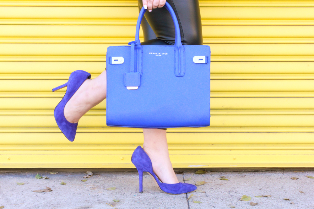 missyonmadison, missyonmadison blog, la blogger, missyonmadison instagram, missyonmadison blogger, melissa tierney, melissa tierney blog, melissa tierney instagram, cobalt blue bag, cobalt blue pumps, cobalt blue bag, cobalt blue coat, blue coat, blue purse, blue heels, blue pumps, blue bag, leather leggings, faux leather leggings, gray turtleneck sweater, gray sweater, raybans, outfit inspo, outfit ideas, winter style, spring style, winter into spring style, spring outfits, fashion blogger,