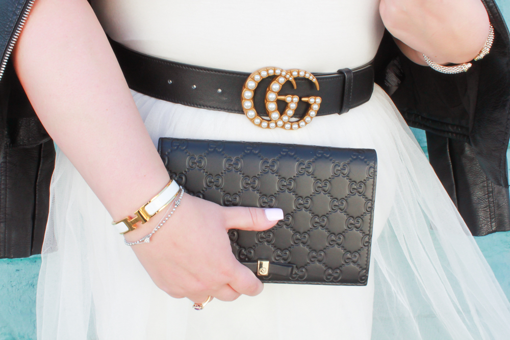 missyonmadison, missyonmadison instagram, la bloger, white tulle skirt, white tulle dress, bloglovin, fashion inspo, fashion blogger, black pumps, black patent leather pumps, gucci pearl belt, gucci bag, moto jacket, street style, la streetstyle, melissa tierney, outfit ideas, outfit inspo