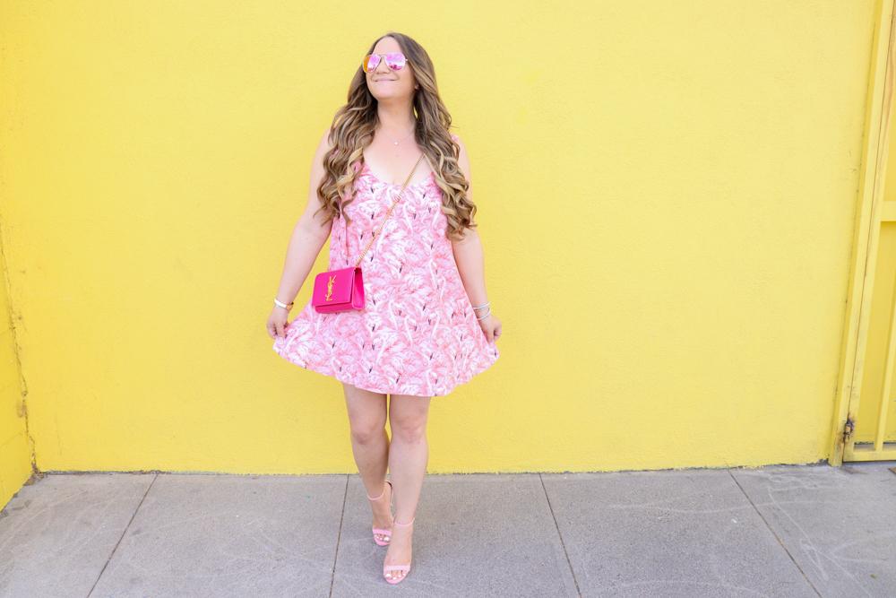 missyonmadison, missyonmadison blog, missyonmadison instagram, la blogger, fashion blog, fashion blogger, flamingo outfit, flamingo dress, red dress boutique, buddy love, buddy love dress, flamingo buddy love dress, pink ankle strap heels, pink ankle strap sandals, pink sandals, pink heels, pink ysl bag, pink ysl purse, pink ysl kate bag, style blog, style blogger, summer style, summertime style, melissa tierney, melissa tierney blog,