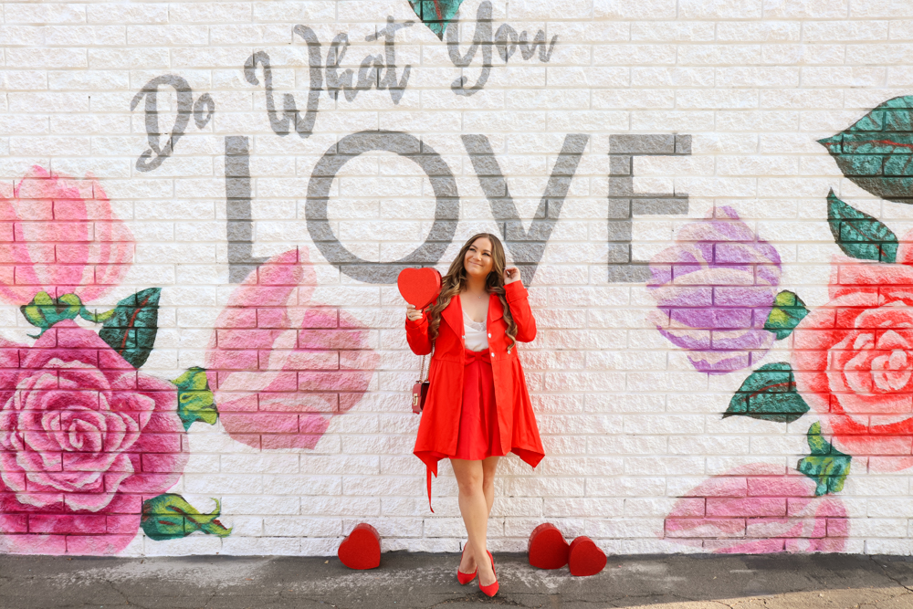 missyonmadison, valentines day style, valentines day, vday style, vday outfit, vday outfit inspo, what to wear for valentines day, what to wear for vday, outfit inspo, outfit goals, red gucci bag, red bag, red pumps, red heels, red skirt, white lace camisole, red coat, vday style goals,